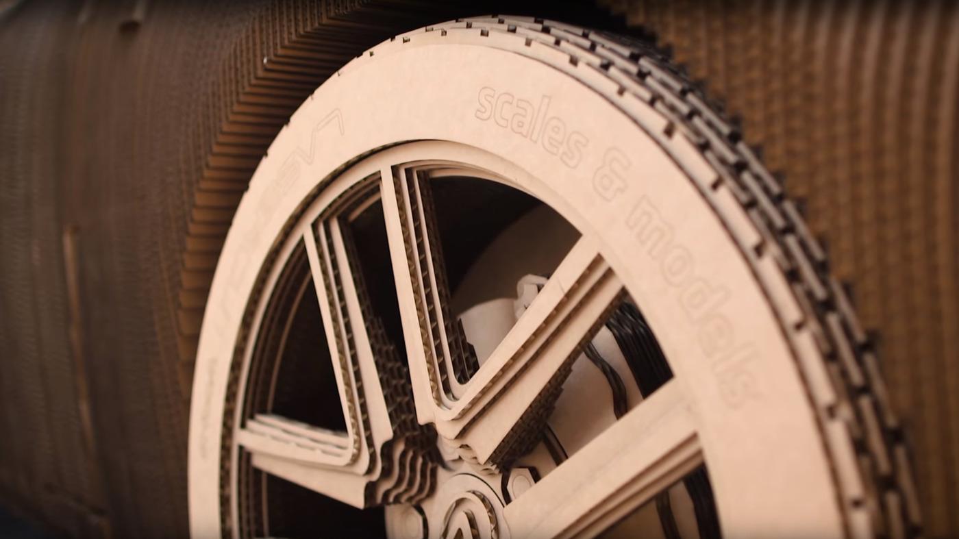 Cardboard car wheel w1400