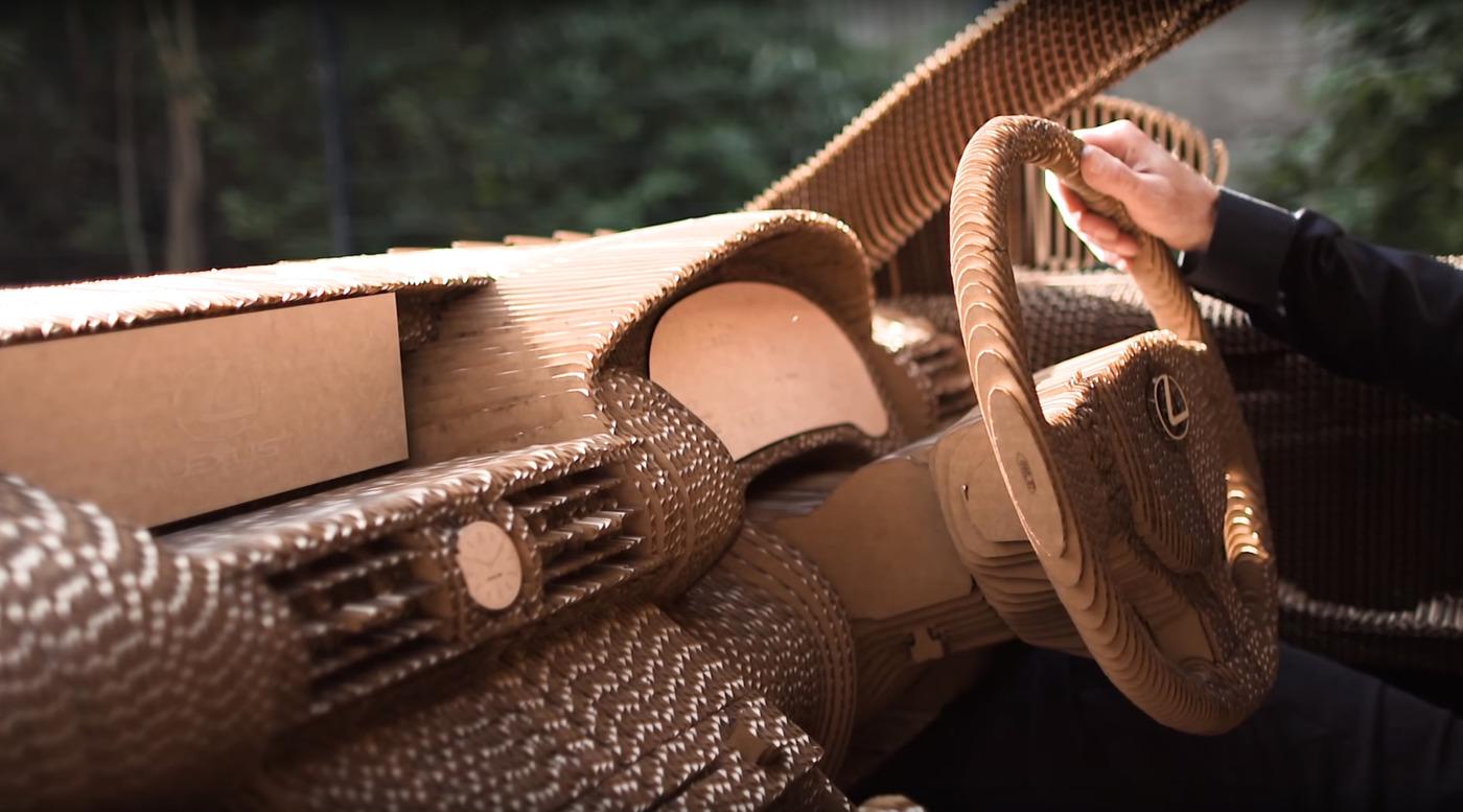 Cardboard car interior w1400