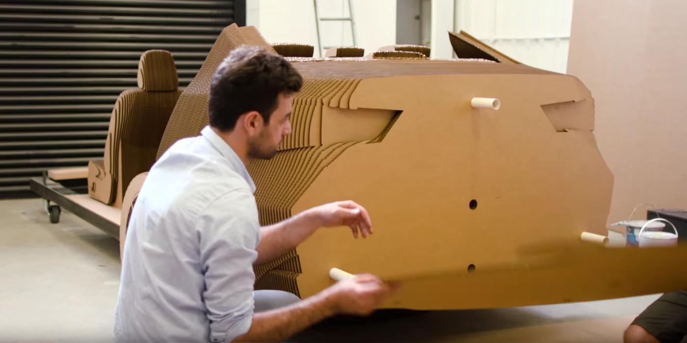 Cardboard car assembly w1400