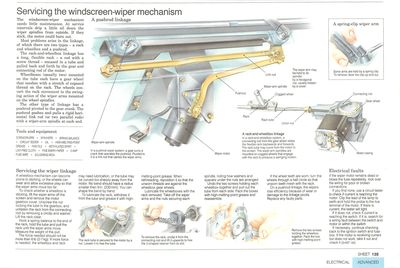 Servicing the windscreen-wiper mechanism