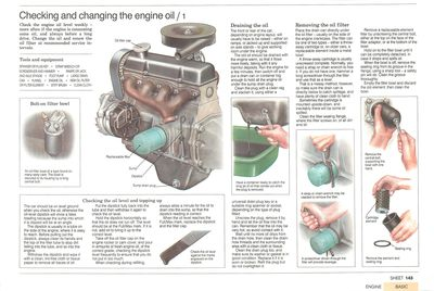How to drain engine oil and remove filter
