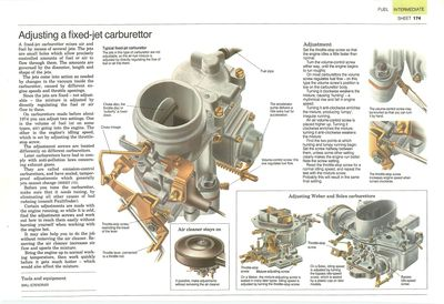 Adjusting a fixed-jet carburettor