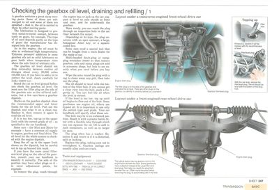 Vérifier, drainer et remplacer le niveau d'huile de la boite de vitesse