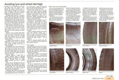 Avoiding tyre and wheel damage