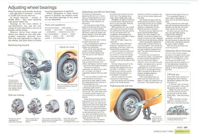 Adjusting wheel bearings