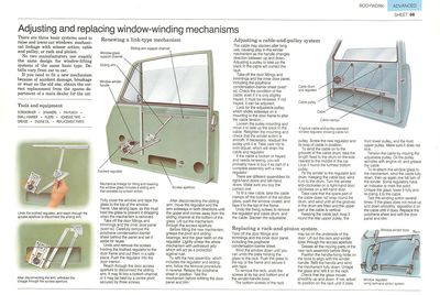 Adjusting and replacing window-winding mechanisms