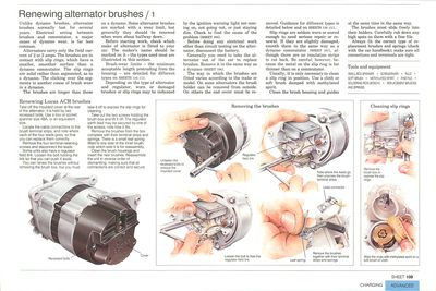 Renewing alternator brushes